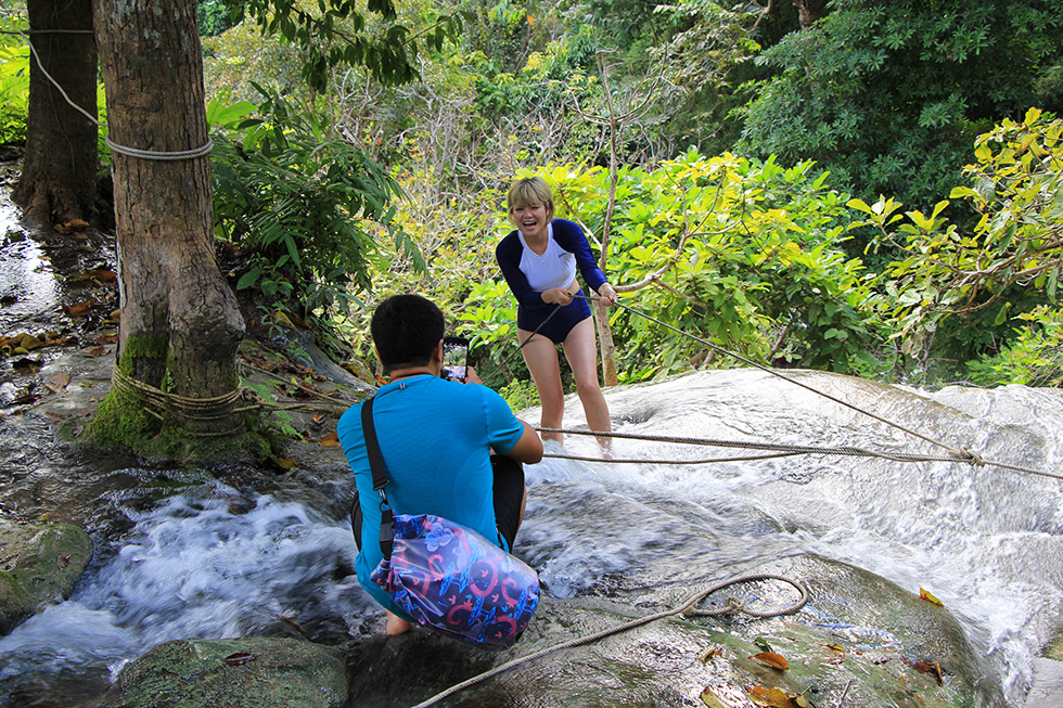 Bua Thong Waterfalls, Sticky Spiderman Falls near Chiang Mai