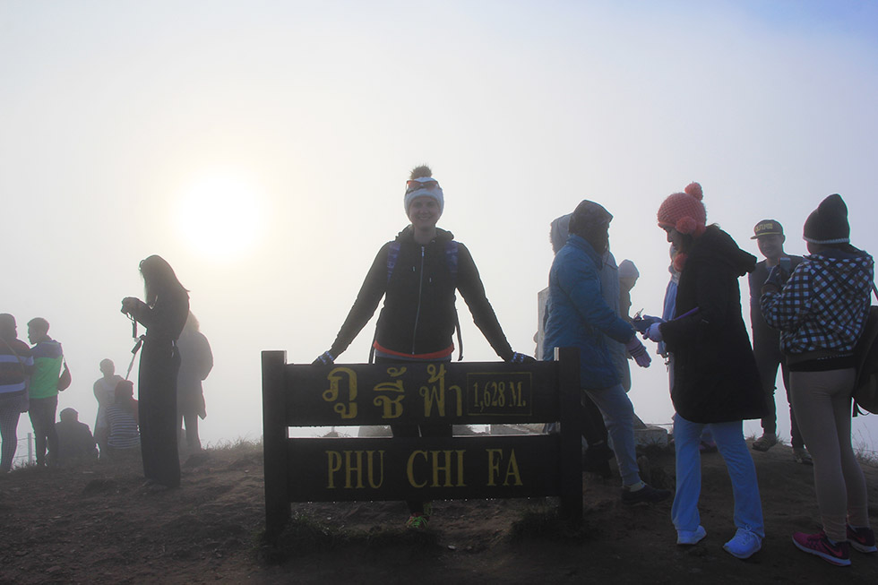 At 1.628 meter hight on Phu Chi Fah mountain
