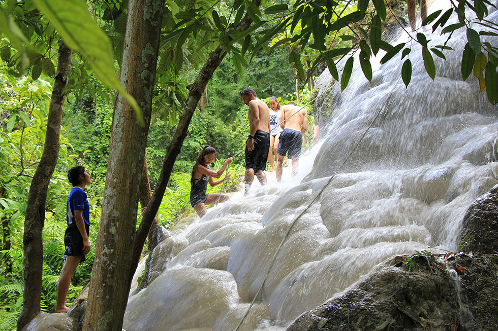 Bua Thong Waterfalls, Sticky Spiderman Falls near Chiang Mai