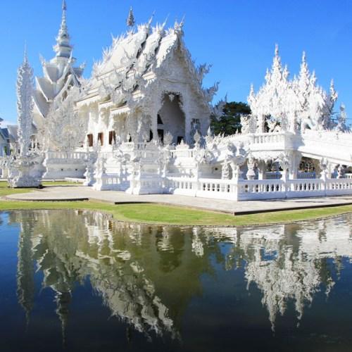 Wat Rong Khun, the White Temple in Chiang Rai