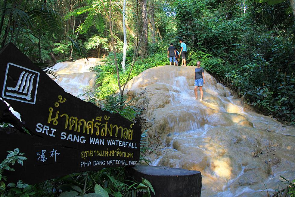 Sri Sangwan Waterfall in Chiang Dao