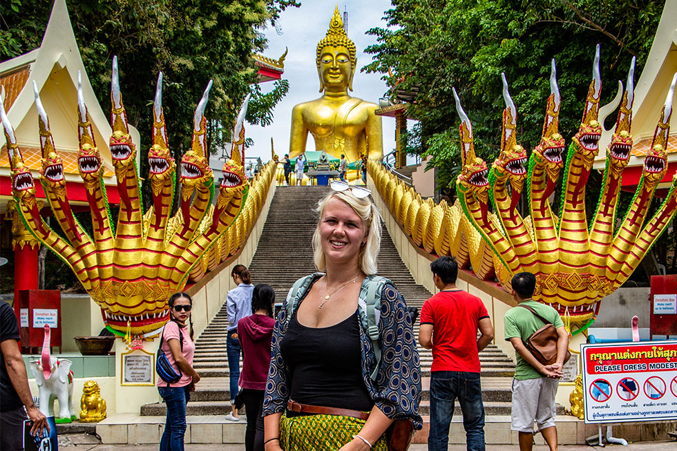 Heidi at Big Buddha in Pattaya