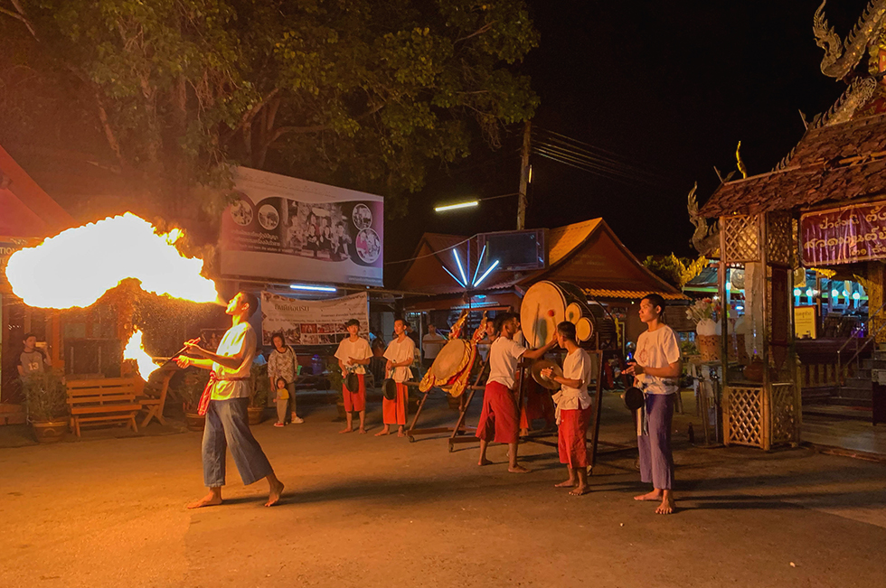 Performance on the Saturday Walking Street in Chiang Mai