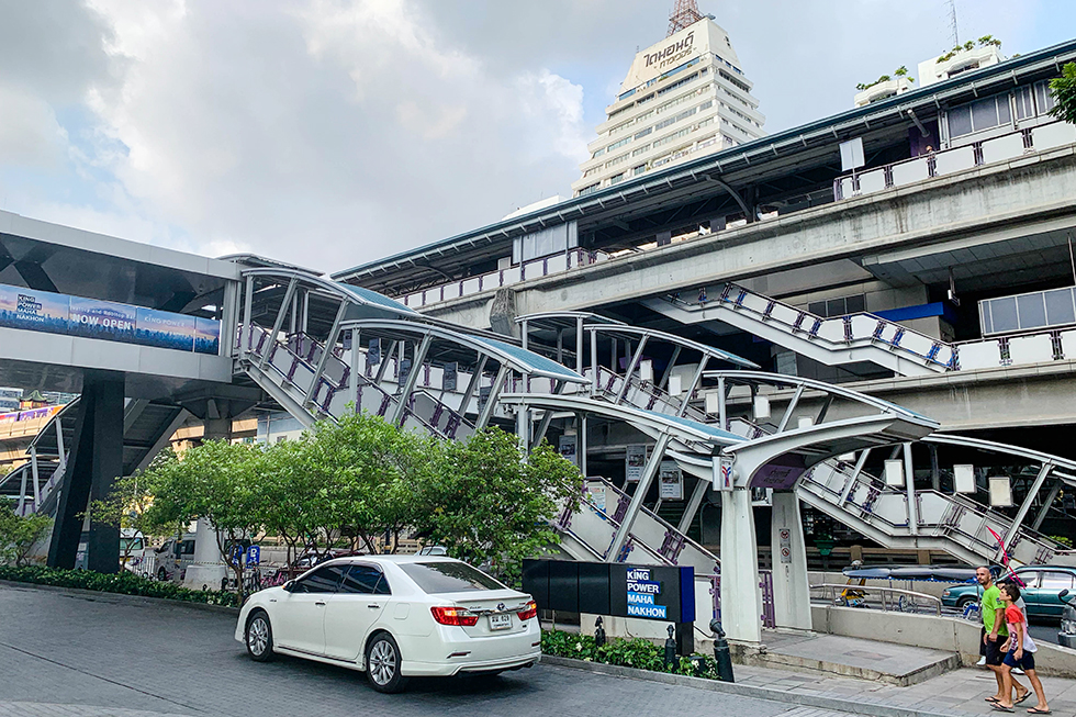 BTS station in front of King Power MahaNakhon SkyWalk