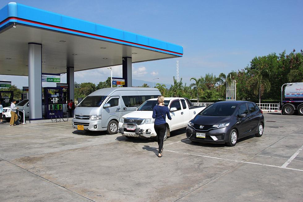 A big gas station near Mae Hong Son