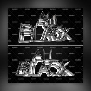 All Black 3D