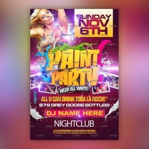 Paint Party Flyer