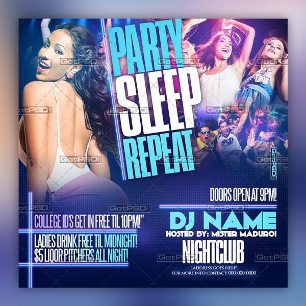 Party Sleep Repeat 1