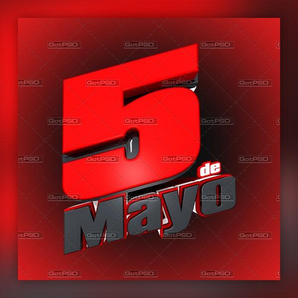 5 de Mayo Title gotpsd.com