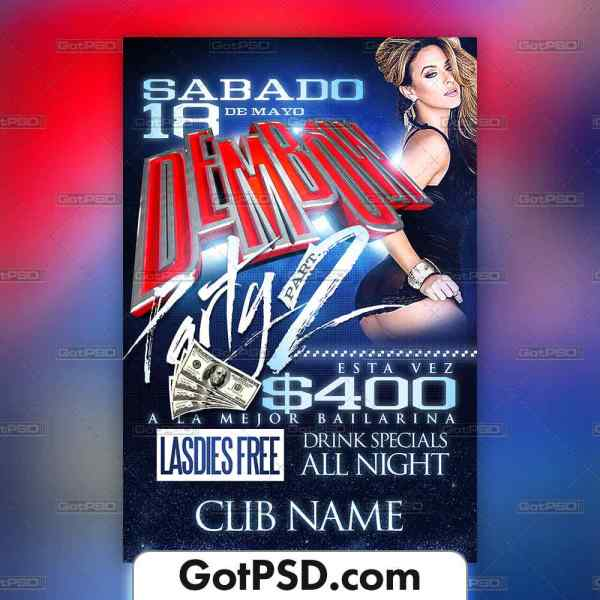 Dembow Party Flyer Template - GotPSD.com