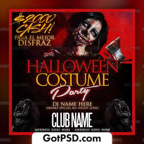 Halloween Costume Party Flyer Psd Template - Gotpsd.com