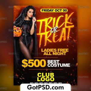 Trick or Tread Flyer Psd Template - Gotpsd.com