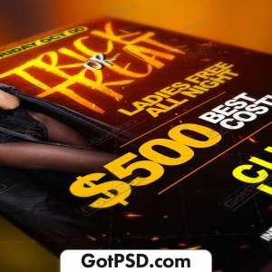 Trick or Tread Flyer Psd Template - Gotpsd.com