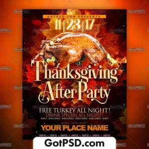 Thanksgiving Flyer Psd Template - Gotpsd.com