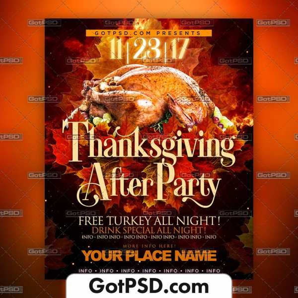 Thanksgiving Flyer Psd Template - Gotpsd.com