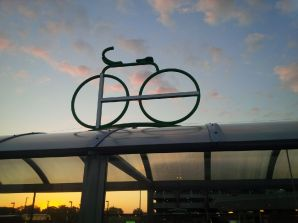 The GO logo in the shape of a bicycle. Is it art?