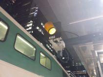 LSW Train Entering Union Station, 9:43 p.m. Photo by Sam Teasdale