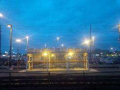 Jewel box beside the tracks.