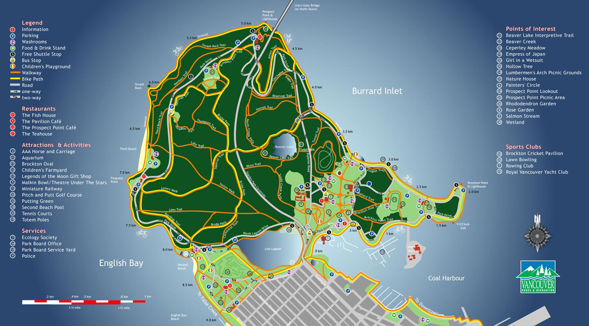 Image result for stanley park vancouver recent map