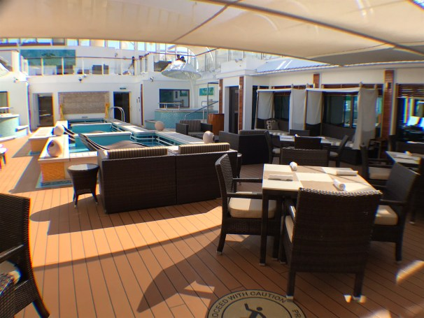Haven pool dining area