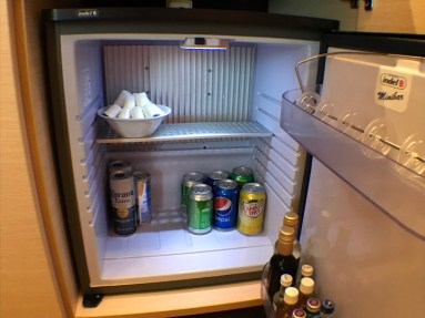 Haven stocked fridge upon embark