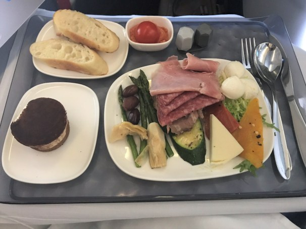 Delta first class lunch meat and cheese tray