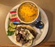Green chile and Philly