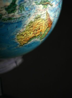 Globe, Oceania