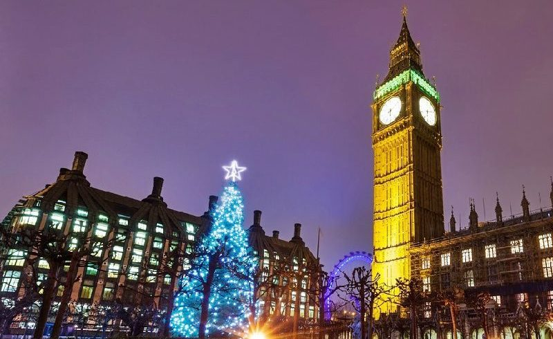 Afternoon Tea at Westminster Abbey and London Christmas Lights Tour