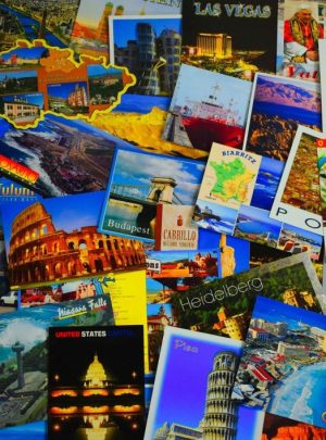 Sightseeing, postcards