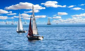 Sailing boat, summer