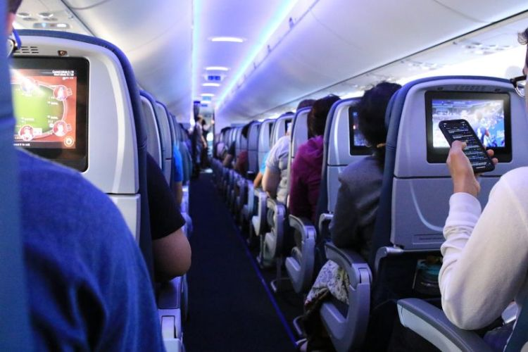 Future of travel after COVID-19 - inside of an airplane