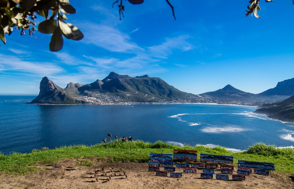 Chapman's Peak Drive Viewpoint on way to Cape Peninsula in South Africa
