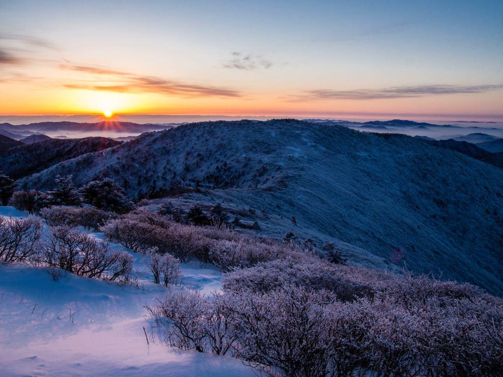 Sunrise at Taebaeksan National Park