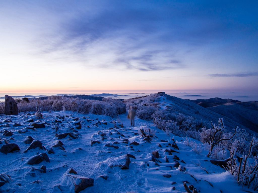 Beautiful Surroundings at Taebaeksan National Park in Winter.