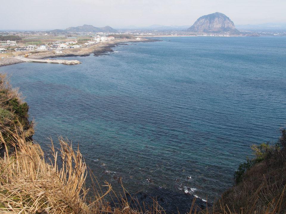 View near Hwasun Beach looking towards Sanbangsan