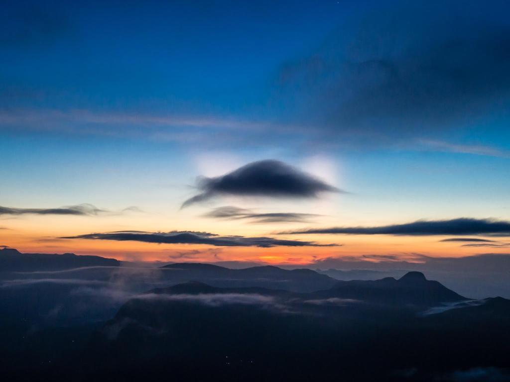 Pre-Sunrise on Adam's Peak, Sri Lanka