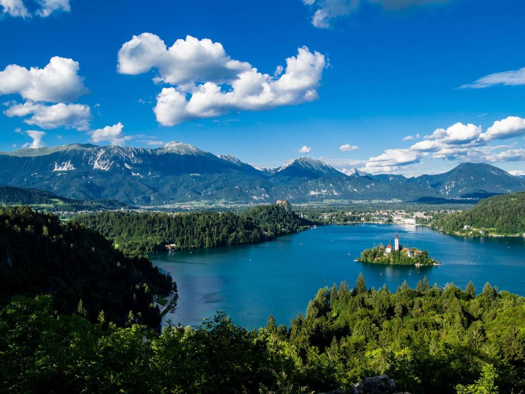 Unbelievable views from Ostrica Viewpoint of Lake Bled