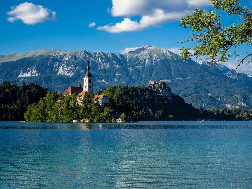 Walking around Lake Bled