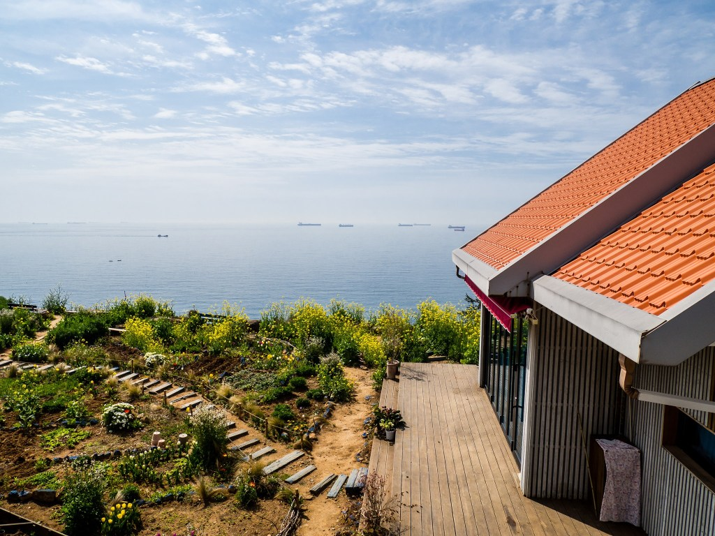 One of the homes of Daraengi Village on Namhae Island