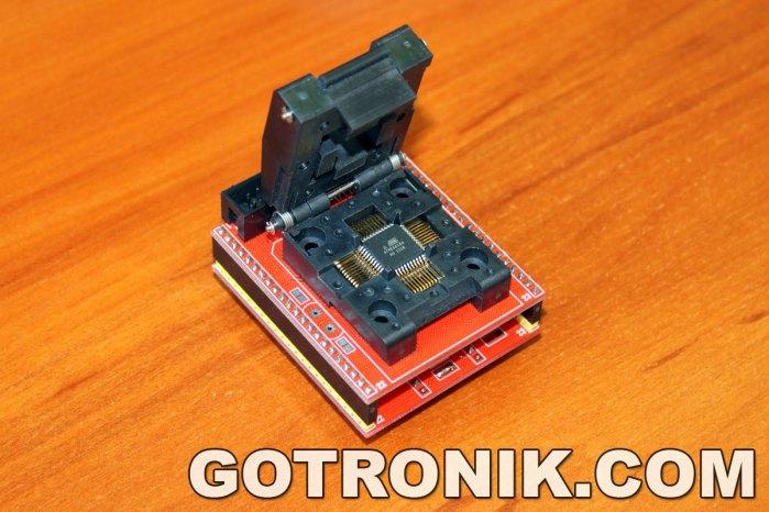 programowanie układu AVR atmega w obudowie TQFP-44
