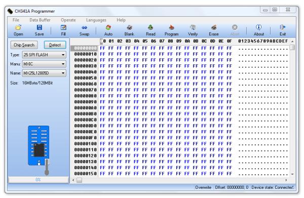 program obsługujący CH341A