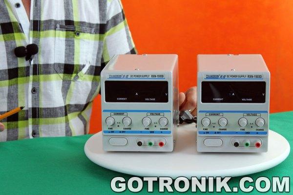 zasilacze RXN-1505D i RXN-1503D produkcji Zhaoxin widok front-panelów