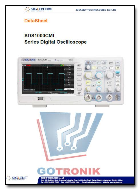Karta katalogowa oscyloskopów produkcji SIGLENT z serii SDS1000CML :