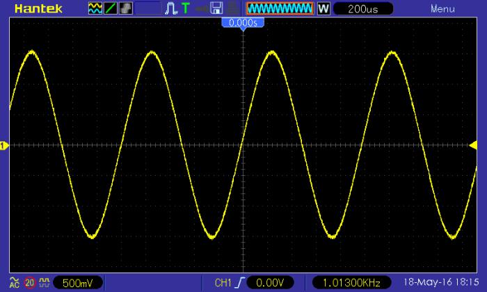 zrzut z ekranu oscyloskopu DSO5102BM Hantek