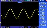 sinusoida f=4,570kHz