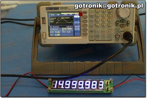 Pomiar częstotliwości: 15 MHz