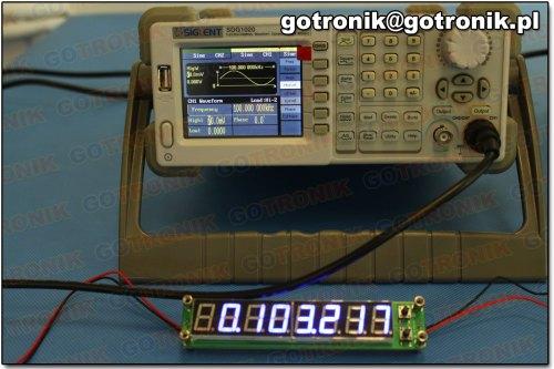 Pomiar częstotliwości: 100 kHz