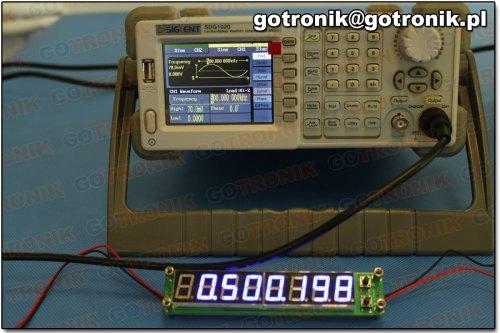 Pomiar częstotliwości: 500 kHz