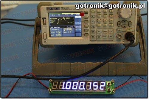 Pomiar częstotliwości: 1 MHz
